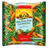 Baby Beans, Baby Carrots & Peas 1kg