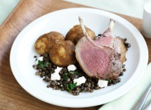 Quick Lamb & Potato Roast with Lentils and Goats Cheese