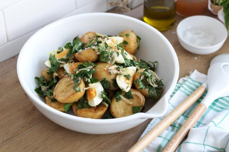 Warm roast potato salad