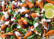 Spiced Carrot Salad with Coconut Dressing